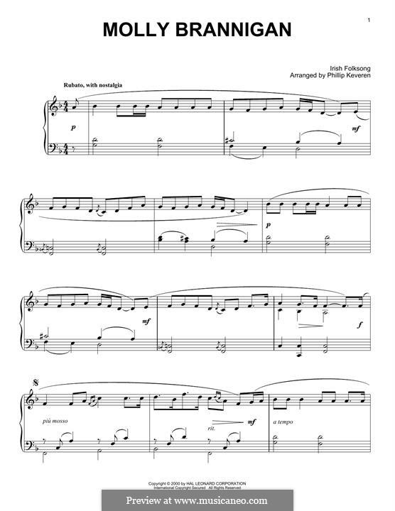 Molly Brannigan: Für Klavier by folklore
