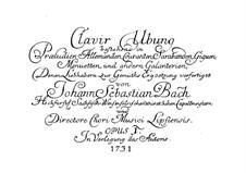 Sechs Partitas, BWV 825-830: Für Tasteninstrumente by Johann Sebastian Bach
