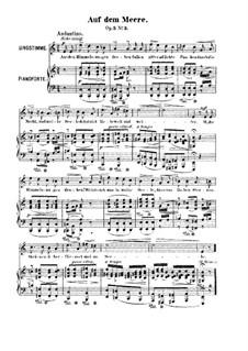 Zwölf Gesänge, Op.5: Nr.3 Auf dem Meere by Robert Franz
