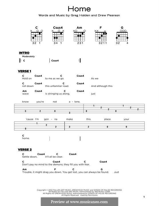 Home: Für Gitarre by Phillip Phillips