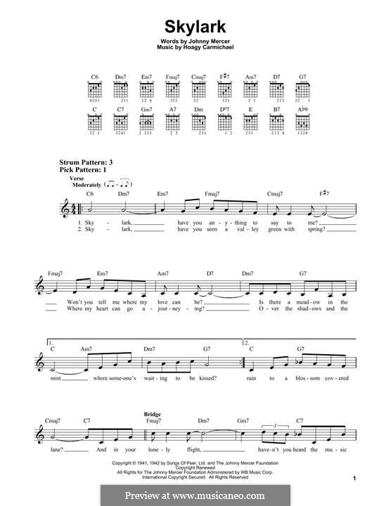 Skylark: Für Gitarre by Hoagy Carmichael