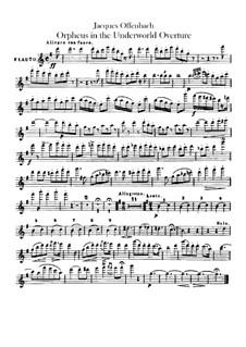 Orpheus in der Unterwelt. Ouvertüre zu Oper von J. Offenbach: Flötenstimme by Carl Binder