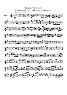 Orpheus in der Unterwelt. Ouvertüre zu Oper von J. Offenbach: Oboenstimmen by Carl Binder