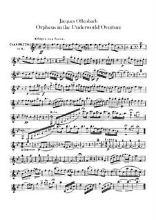 Orpheus in der Unterwelt. Ouvertüre zu Oper von J. Offenbach: Klarinettenstimmen by Carl Binder