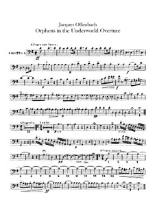 Orpheus in der Unterwelt. Ouvertüre zu Oper von J. Offenbach: Fagottstimme by Carl Binder