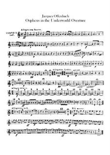 Orpheus in der Unterwelt. Ouvertüre zu Oper von J. Offenbach: Hörnerstimmen by Carl Binder