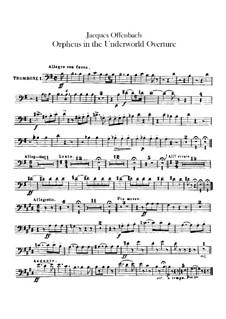 Orpheus in der Unterwelt. Ouvertüre zu Oper von J. Offenbach: Posaunen- und Ophikleidestimmen by Carl Binder