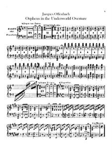 Orpheus in der Unterwelt. Ouvertüre zu Oper von J. Offenbach: Harfe- oder Klavierstimme by Carl Binder
