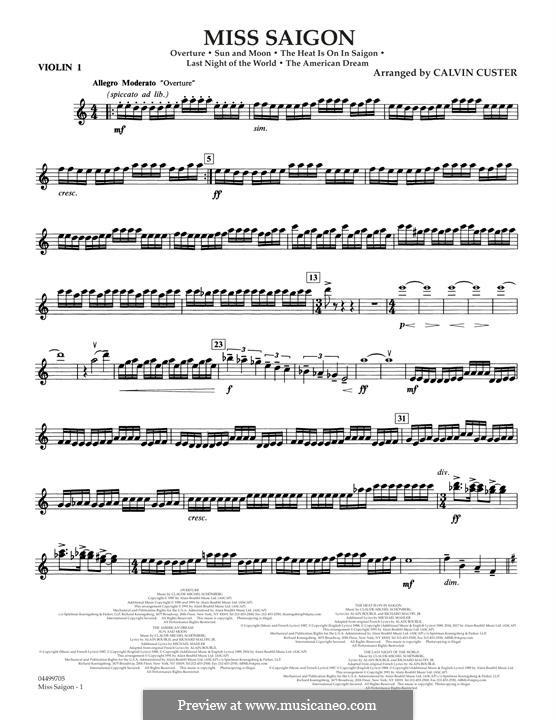 Miss Saigon: Violin 1 part by Claude-Michel Schönberg