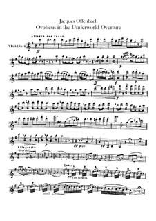 Orpheus in der Unterwelt. Ouvertüre zu Oper von J. Offenbach: Violinstimme by Carl Binder