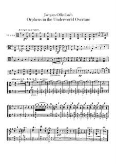 Orpheus in der Unterwelt. Ouvertüre zu Oper von J. Offenbach: Violastimme by Carl Binder