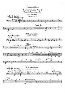 Erste Suite: Schlagzeugstimmen by Georges Bizet