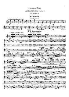 Erste Suite: Violinstimme by Georges Bizet