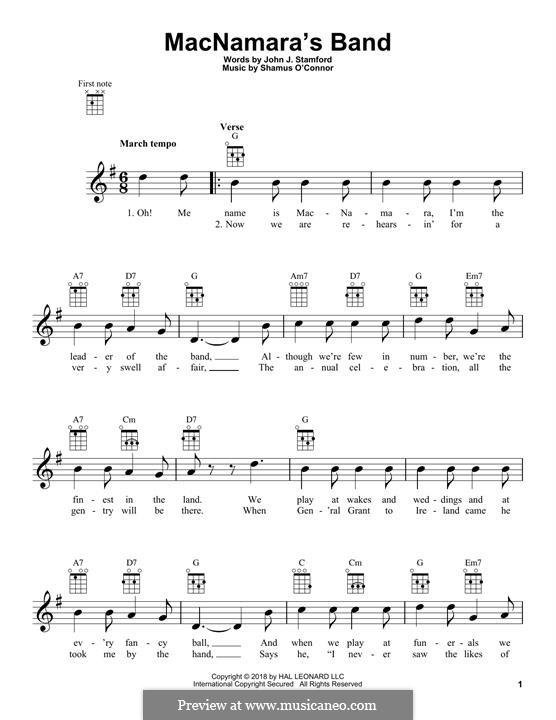 MacNamara's Band: Für Ukulele by Shamus O'Connor