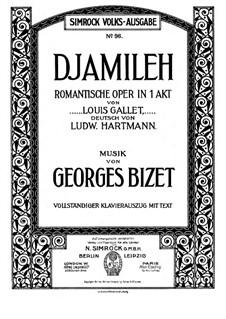 Djamileh: Klavierauszug mit Singstimmen by Georges Bizet