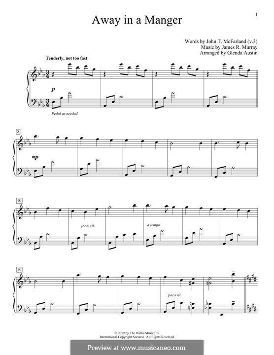 Away in a Manger: Für Klavier by folklore