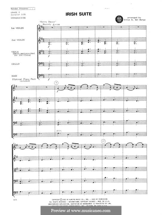 Irish Suite: For string ensemble – full score by folklore