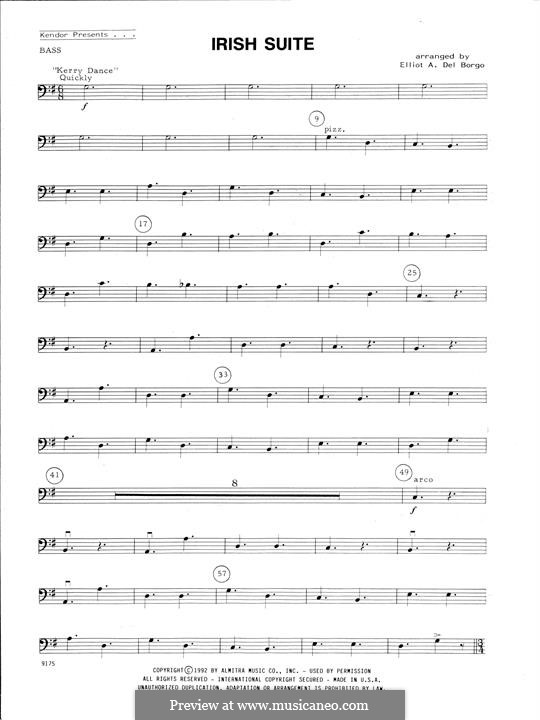Irish Suite: For string ensemble – Bass part by folklore