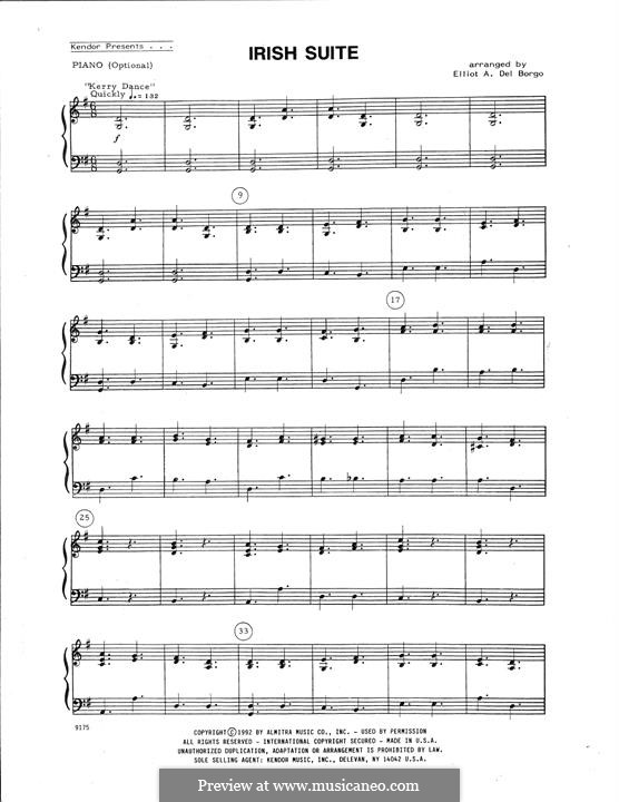 Irish Suite: For string ensemble – Piano Accompaniment by folklore