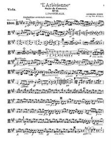 Suite II: Nr.1-2, für Theaterorchester – Bratschenstimme by Georges Bizet