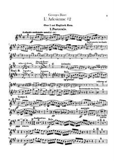 Suite II: Oboen- und Englischhornstimmen by Georges Bizet