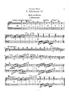 Suite II: Harfe- oder Klavierstimme by Georges Bizet
