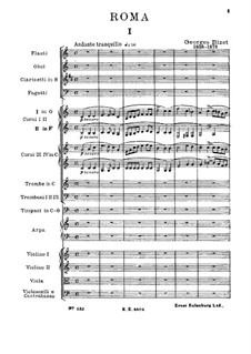 Sinfonie in C-Dur 'Roma': Vollpartitur by Georges Bizet
