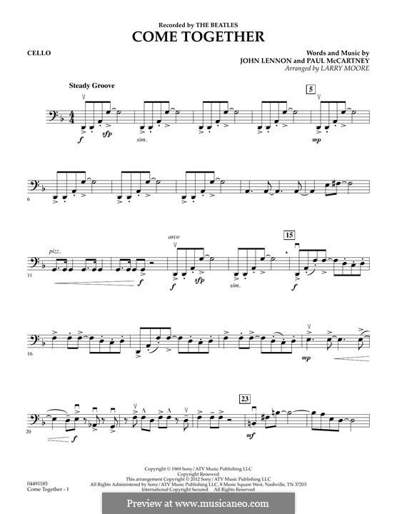 Come Together (The Beatles): For strings – Cello part by John Lennon, Paul McCartney