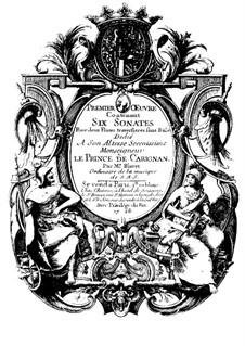 Sechs Sonaten für zwei Flöten, Op.1: Vollsammlung by Michel Blavet