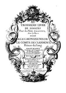 Sechs Sonaten für Flöte und Basso Continuo: Sechs Sonaten für Flöte und Basso Continuo by Michel Blavet