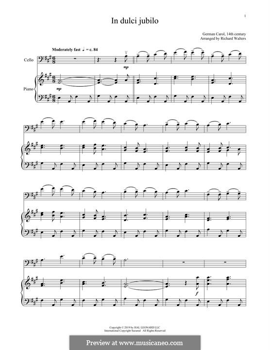 In süsser Freude: Für Cello und Klavier by folklore