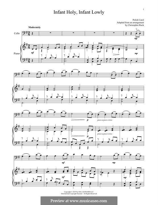Infant Holy, Infant Lowly: Für Cello und Klavier by folklore
