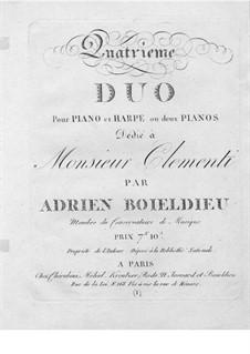 Duett Nr.4 für Harfe und Klavier: Harfenstimme by Adrien Boieldieu