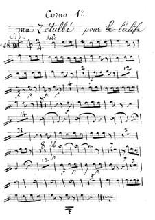 Der Kalif von Bagdad: Ma Zetulbé – Hornstimme I in F by Adrien Boieldieu