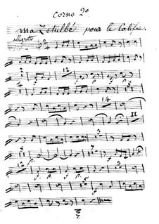 Der Kalif von Bagdad: Ma Zetulbé – Hornstimme II in F by Adrien Boieldieu