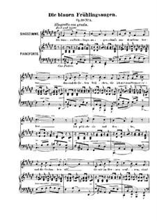 Sechs Lieder, Op.20: Nr.1 Die blauen Frühlingsaugen by Robert Franz