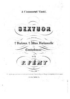 Streichsextett in A-Dur: Violinstimme I by François Fémy