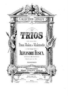 Klaviertrio Nr.5 in h-Moll, Op.46: Stimmen by Alexander Fesca