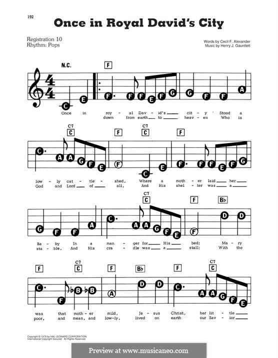 Once In Royal David's City: Für Klavier by folklore