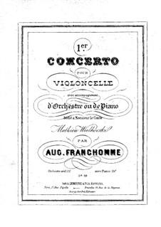Konzert für Cello und Orchester Nr.1, Op.33: Version für Cello und Klavier by Auguste Franchomme
