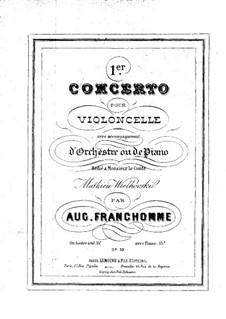Konzert für Cello und Orchester Nr.1, Op.33: Solostimme by Auguste Franchomme