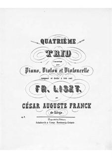 Klaviertrio Nr.4, Op.2: Klaviertrio Nr.4 by César Franck
