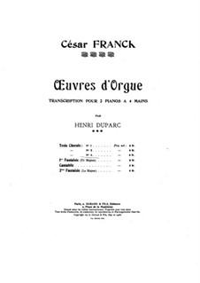 Drei Chorale: Choral Nr.3 in a-Moll, für zwei Klaviere, vierhändig, FWV 40 by César Franck