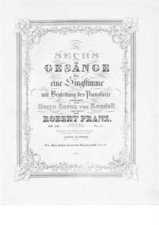 Sechs Gesänge, Op.40: Sechs Lieder by Robert Franz