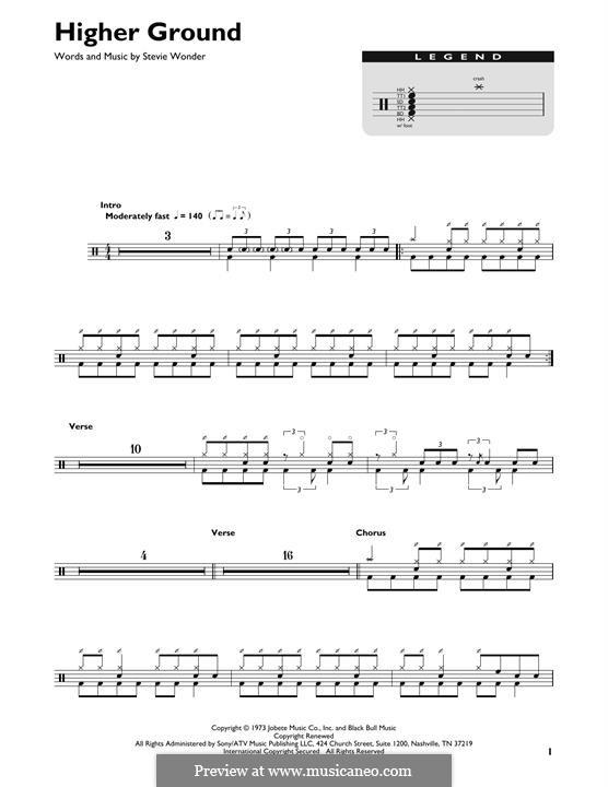 Higher Ground: Drum set by Stevie Wonder