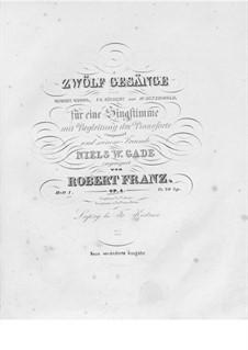 Zwölf Gesänge, Op.4: Buch I by Robert Franz