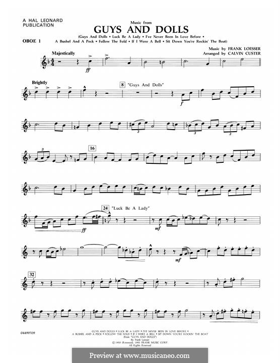Music from Guys and Dolls: Oboe 1 part by Frank Loesser