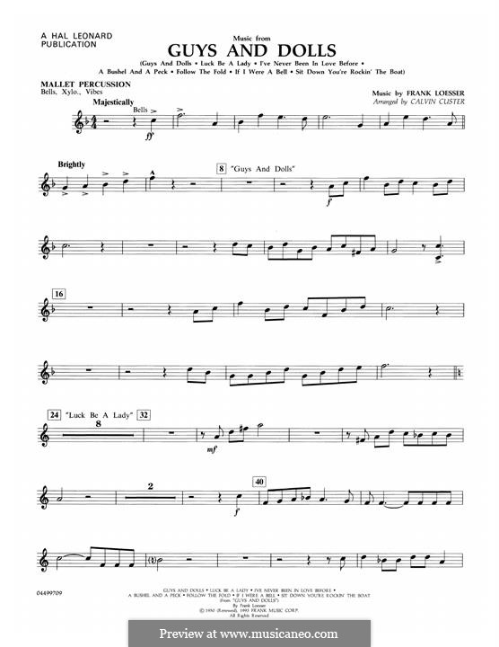 Music from Guys and Dolls: Trombone 1 part by Frank Loesser