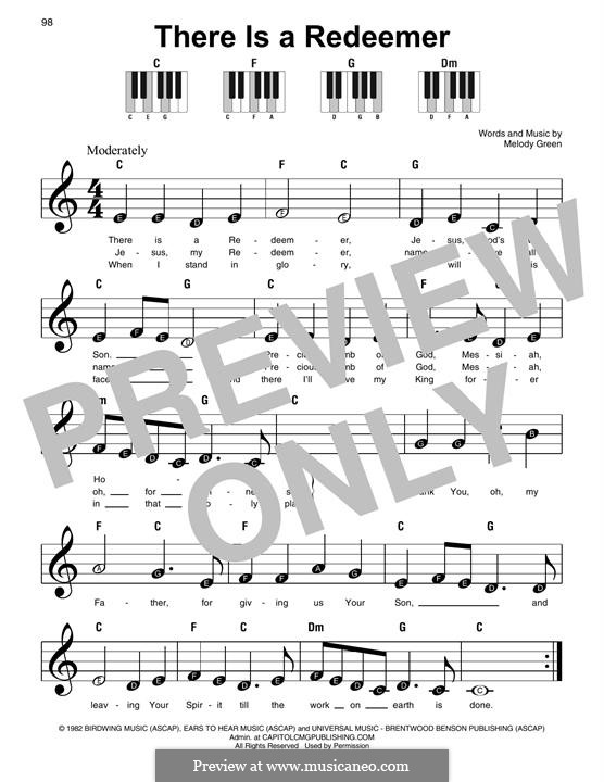There Is a Redeemer: Für Klavier by Keith Green, Melody Green