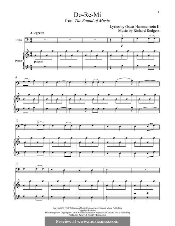 Do-Re-Mi (from The Sound of Music): Für Cello und Klavier by Richard Rodgers